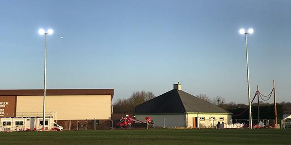 Stade Didier Pironi: un système d'éclairage pour les terrains d'entraînement
